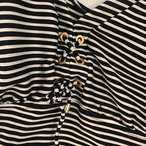 Lands' End Swim - Lands end black and white striped tankini